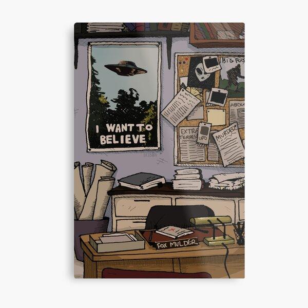 Mulder's Office Metal Print