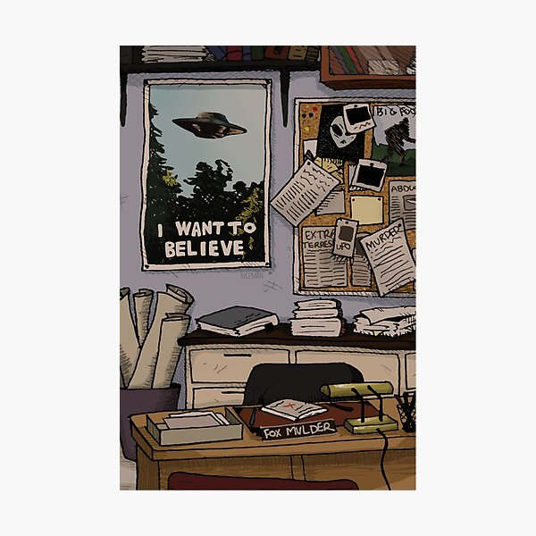 Mulder's Office Photographic Print