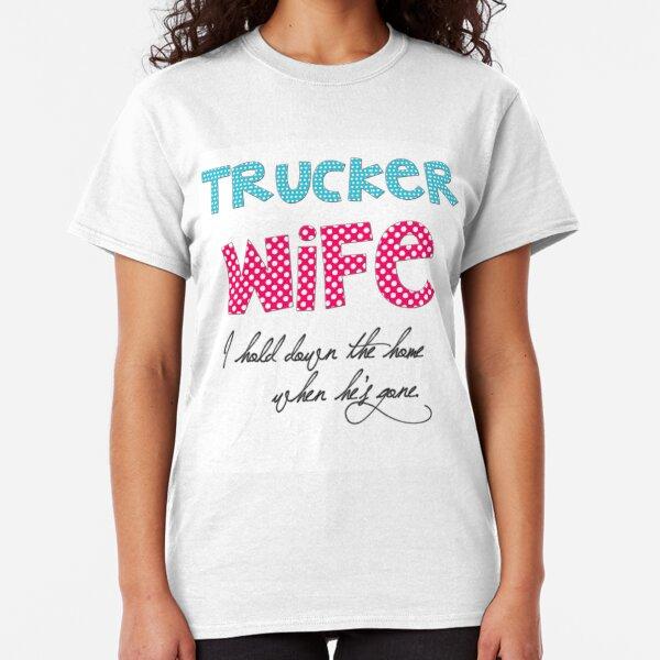Mein Herz Trucker Damen T-Shirt Spruch Geschenk Idee Freundin Paar LKW-Fahrer