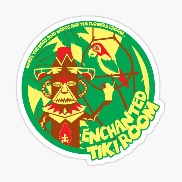 The Enchanted Tiki Room (green, red, yellow) Sticker