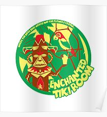 The Enchanted Tiki Room (green, red, yellow) Poster