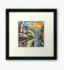 City landscape Framed Print