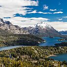 Mountains and lake Nahuel Huapi (Patagonia - Argentina) by Mathieu Longvert
