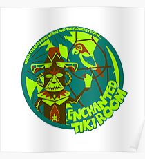 Enchanted Tiki Room (blue, green, red) Poster