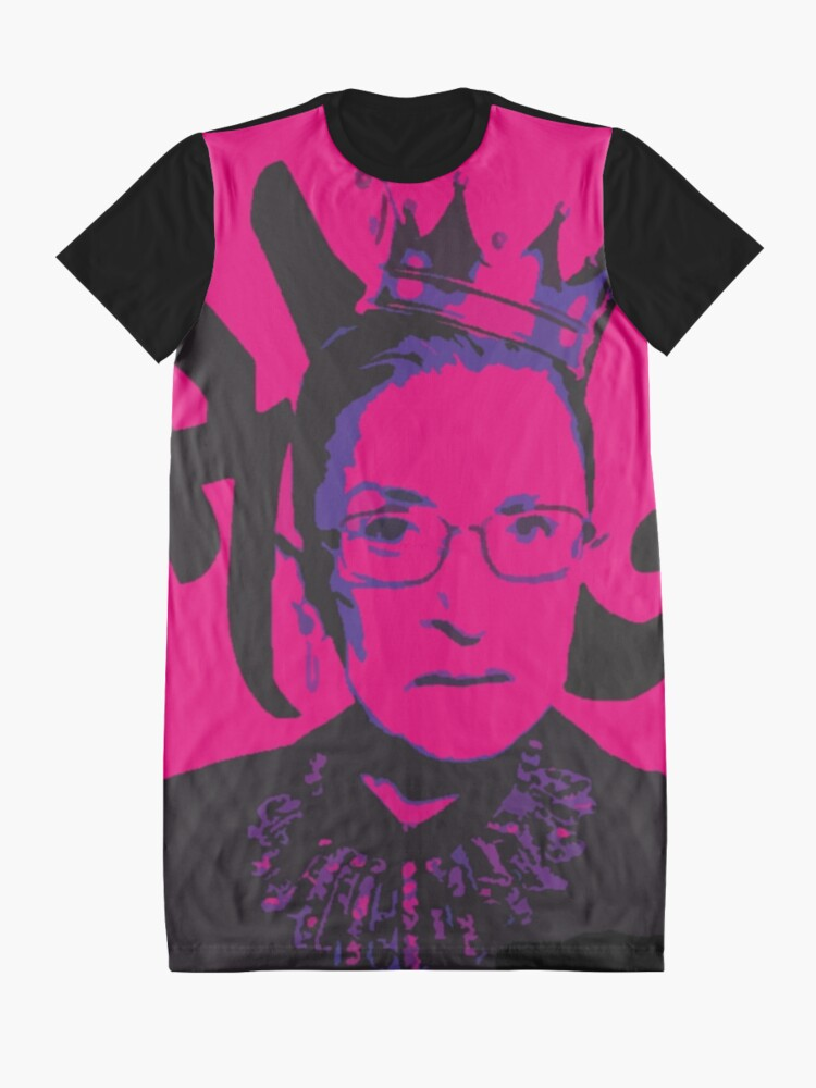 Alternate view of RBG Diva Hot Pink Graphic T-Shirt Dress