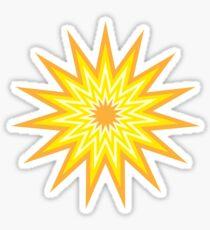 Fifteen Point Star Sticker