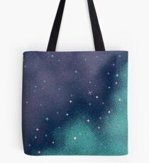 Bolsa de tela Lila y Aqua Pixel Galaxy