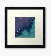 Flieder und Aqua Pixel Galaxy Gerahmtes Wandbild