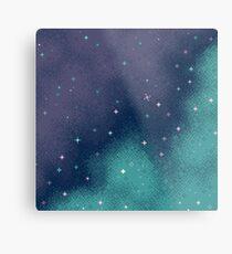 Lienzo metálico Lila y Aqua Pixel Galaxy