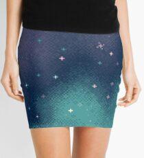 Minifalda Lila y Aqua Pixel Galaxy