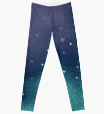 Lilac and Aqua Pixel Galaxy Leggings