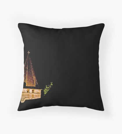 Steeple in Velvety Night Throw Pillow