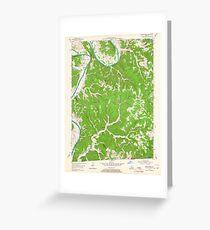 USGS TOPO Map Kentucky KY Blacks Ferry 803341 1954 24000 Greeting Card