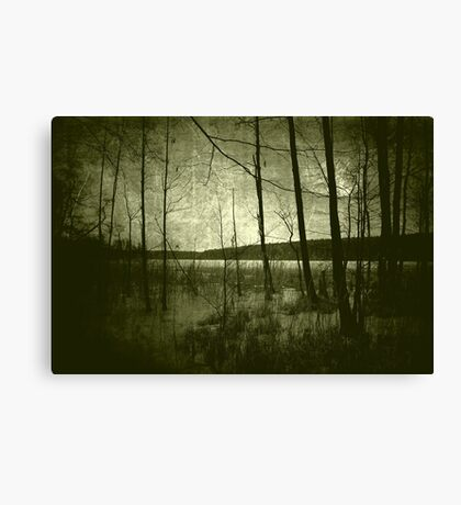 Drowned men's time Canvas Print