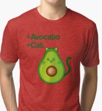 Avocat tee Avogato Addict shirt for avocato and catlover Tri-blend T-Shirt