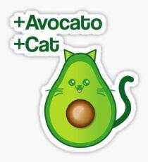 Avocat tee Avogato Addict shirt for avocato and catlover Sticker