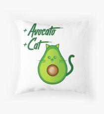 Avocat tee Avogato Addict shirt for avocato and catlover Throw Pillow