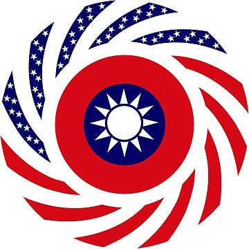 Taiwanese American Multinational Patriot Flag Series by carbonfibreme