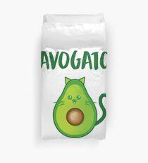 Avogato Addict shirt for avocato and catlover Duvet Cover