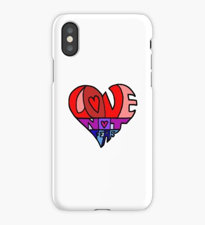 #LoveNotFear iPhone Case