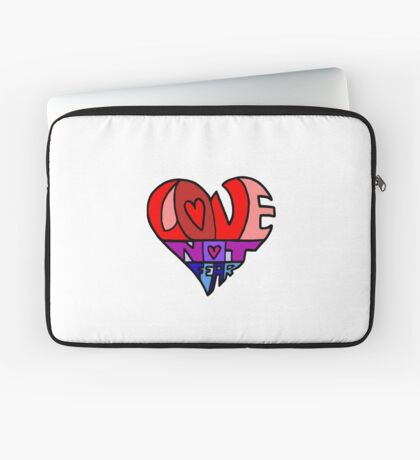 #LoveNotFear Laptop Sleeve