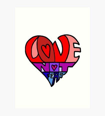 #LoveNotFear Art Print