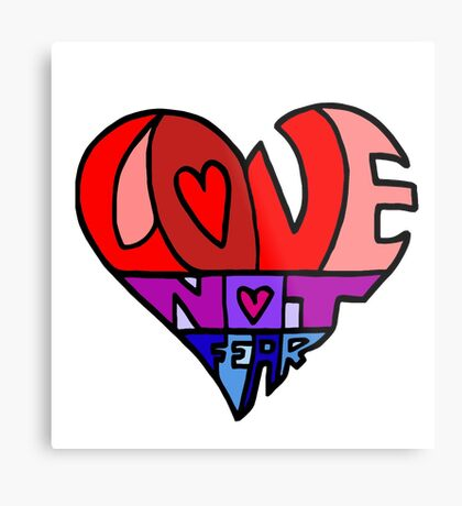 #LoveNotFear Metal Print