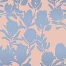 Protea peach blue by youdesignme