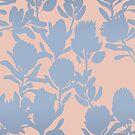 protea peach blue von youdesignme