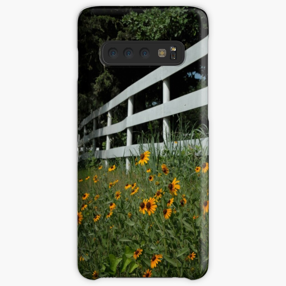 Black Eyed Susans along the Fence Case & Skin for Samsung Galaxy