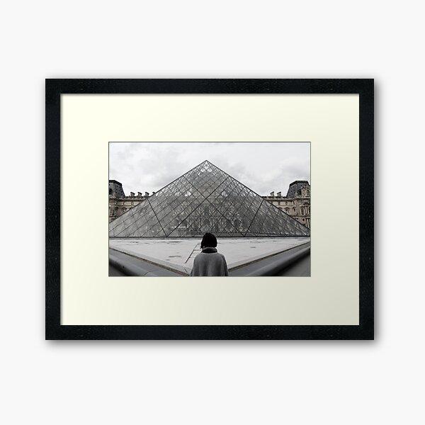 Mirando hacia el Louvre. Lámina enmarcada