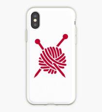 Knitting wool iPhone Case