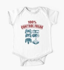 100% Control Freak Retro Vintage Video Game Controllers  One Piece - Short Sleeve