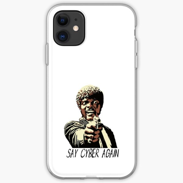 SAY CYBER AGAIN iPhone Soft Case