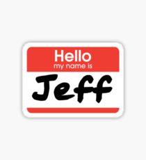 22 Jump Street - My Name Is Jeff! Sticker