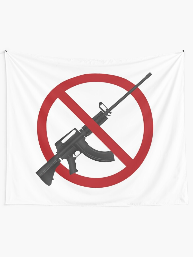 Assault Rifle AR 15 Gun Ban Illustration | Wall Tapestry