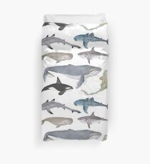 Whales and Sharks Duvet Cover