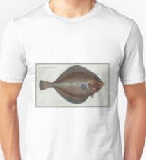Vintage Illustration of a Flounder Fish (1785) Unisex T-Shirt