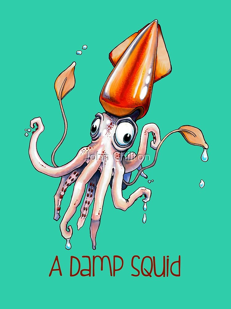 A Damp Squid by DrawnToTheSea