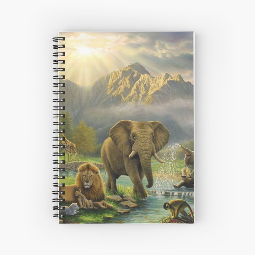 Animals in Paradise Spiral Notebook
