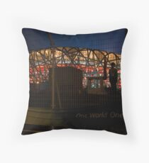 One World One Dream Throw Pillow