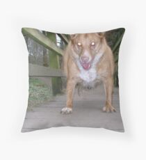 Mad but happy Throw Pillow