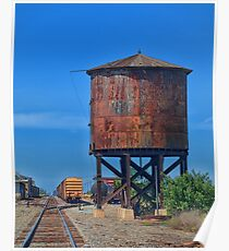 Vintage Water Tower Poster