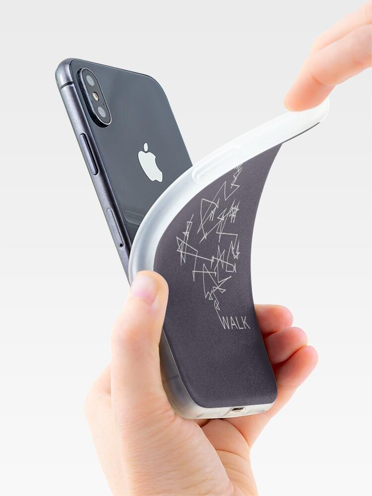 Vista alternativa de Funda y vinilo para iPhone Caminata aleatoria