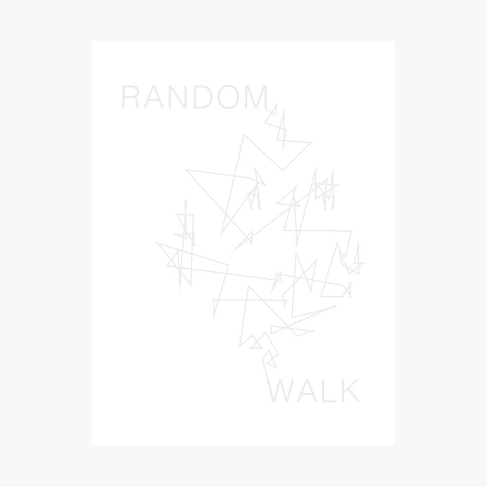 Caminata aleatoria Lámina fotográfica
