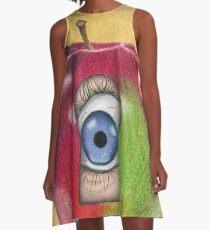 Curiosity killed the apple A-Line Dress