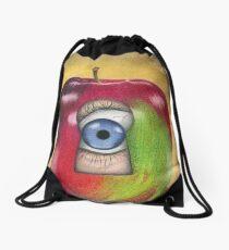 Curiosity killed the apple Drawstring Bag