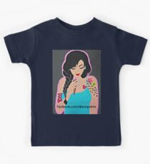 Lakeon Paints tattooed painter girl Kids Clothes