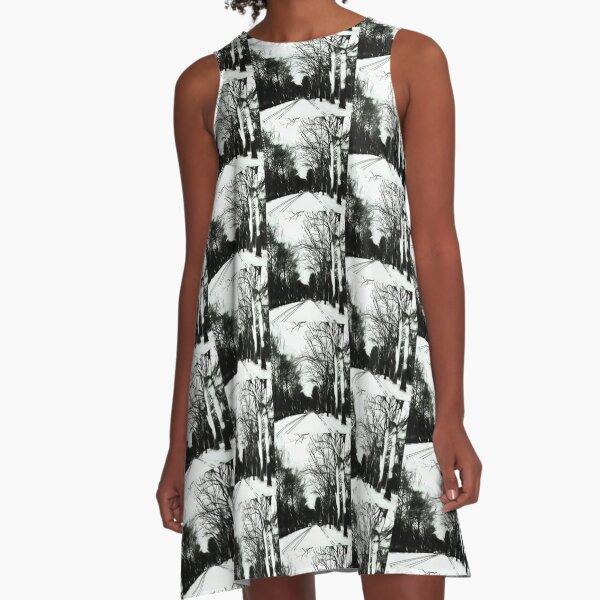 On-the-road [B&W] A-Line Dress