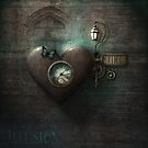 Heart Clock Quirky 2 by Melanie Moor